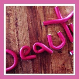 Photo of lady DIY Hairstyle Purple Foam Hair Roller Bendy Curlers Twist Benders uploaded by Daviontea B.