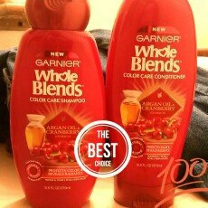 Garnier® Whole Blends™ Argan Oil & Cranberry Extracts Color Care Shampoo 12.5 fl. oz. Bottle uploaded by Jazzlynn M.