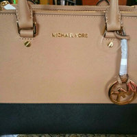 MICHAEL Michael Kors Sutton Dressy Medium Colorblock Satchel Suntan Black uploaded by Sara D.