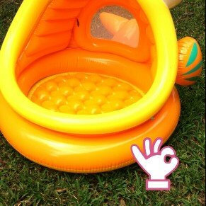 Photo of Intex 49in x 43in x 28in, 14 gal Lazy Fish Shade Baby Pool (57109EP) uploaded by Charisse A.