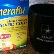 Photo of Theraflu Multi-Symptom Severe Cold Packets Lipton Green Tea & Honey Lemon Flavors - 6 CT uploaded by Leslie W.