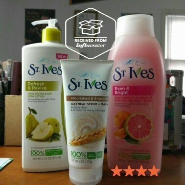 St. Ives Body Wash, Even & Bright Pink Lemon & Mandarin Orange, 24 fl oz uploaded by Laura L.