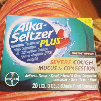 Photo of Alka-Seltzer Plus Severe Cough, Mucus & Congestion Liquid Gels, 20 ea uploaded by Anna M.