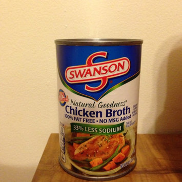 Photo of Swanson Natural Goodness 33% Less Sodium 100% Fat Free No MSG Added Chicken Broth uploaded by Charlotte I.