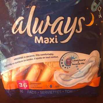 Photo of Always Maxi Size 5 Extra Heavy Overnight Pads with Wings Unscented uploaded by Lyndsey G.