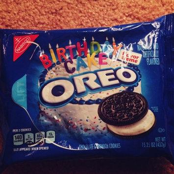 Oreo Birthday Cake Chocolate Sandwich Cookies uploaded by Mallory P.