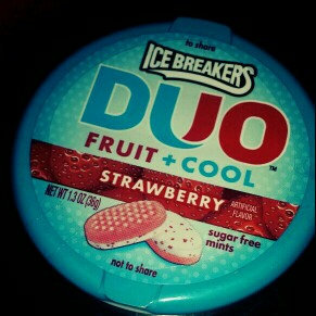 Ice Breakers Duo Strawberry Sugar Free Mints uploaded by Kristen S.