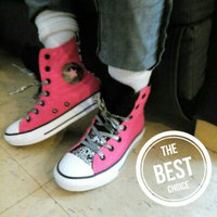 baby girl shoes Converse Little Girls' Chuck Taylor All Star Party Hi Casual Sneakers from Finish Line uploaded by Lidia Z.