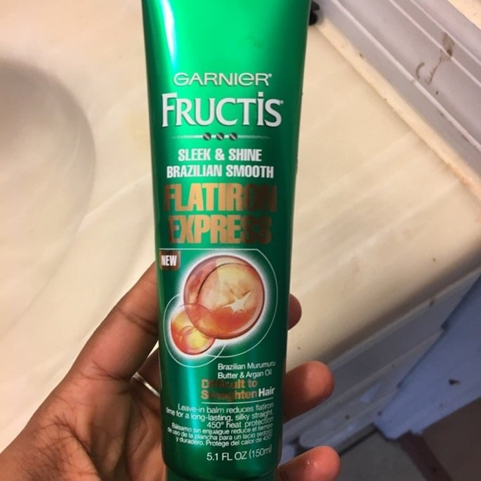 Garnier® Fructis® Sleek & Shine Brazilian Smooth Flatiron Express Leave-In Balm 5.1 fl. oz. Tube uploaded by Leticia P.