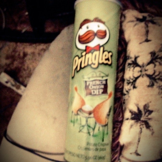 Pringles French Onion Dip Flavored Potato Crisps uploaded by Ashley s.