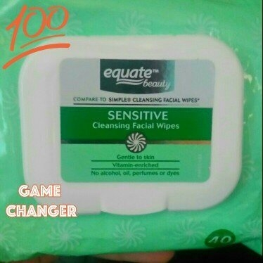Equate sensitive skin facial wipes uploaded by Misty C.