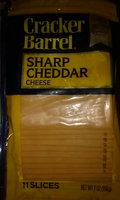 Kraft Cracker Barrel® Cheddar Sharp Cheese Slices 11 Ct 7 Oz Zip Pak uploaded by Benji P.