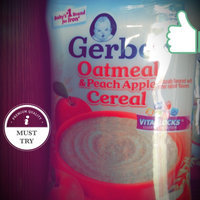 Gerber® Oatmeal & Peach Apple Cereal 8 oz. Canister uploaded by amanda e.
