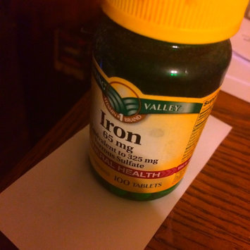 Photo of Spring Valley Iron 65Mg 100Ct  Iron 65 Mg Tablets Dietary Supplement 100 uploaded by Ayanna D.