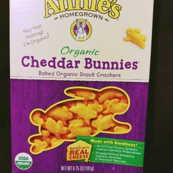Annie's Homegrown® Organic Cheddar Bunnies® Baked Snack Crackers uploaded by gloria h.