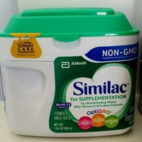 Similac For Supplementaion Infant Formula with Iron Birth-12 Months uploaded by Claudia B.
