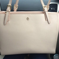 Tory Burch York Small Two-Tone Saffiano Leather Tote uploaded by Nichole A.