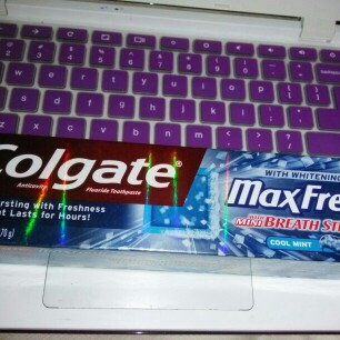 Photo of Colgate® MaxFresh® with WHITENING BREATH STRIPS Liquid Toothpaste Cool Mint uploaded by samantha m.