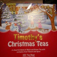 Timothy's Christmas Teas Holiday Blend Silent Night Peppermint Ginger Breakfast Special 100 Tea Bags uploaded by Tori T.