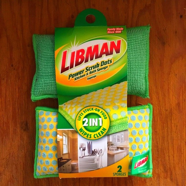 Libman 336 2 In 1 Scrubbing Bubbles Kitchen and Dish Sponge