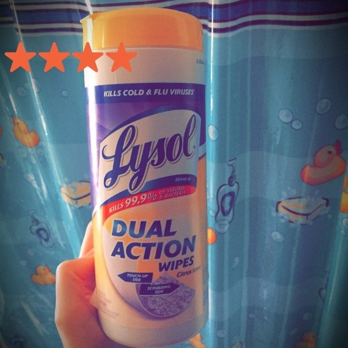 Lysol Dual Action Disinfecting Wipes uploaded by Jessica H.