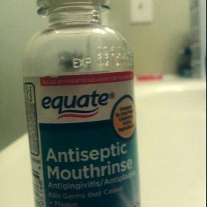 Generic Equate Blue Mint Antiseptic Mouthrinse, 3.2 fl oz uploaded by guadalupe m.