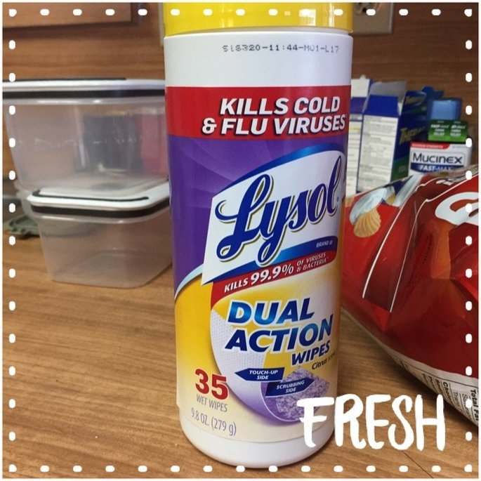 Lysol Dual Action Disinfecting Wipes uploaded by Sara C.