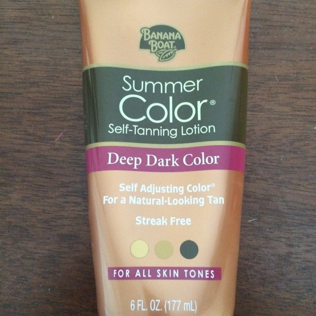 Banana Boat® Summer Color® Deep Dark Color Self-Tanning Lotion 6 fl. oz. Tube uploaded by Tricia B.
