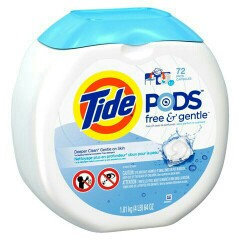 Photo of Tide PODS® Free and Gentle Laundry Detergent uploaded by Shana S.