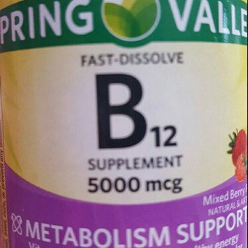 Photo of Spring Valley Mixed Berry Fast Dissolve B12 Vitamin Supplement Tablets, 5000mcg, 45 count uploaded by Kristi G.