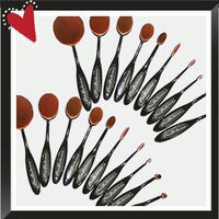110OVBRSH10 Pro Balance Soft Hair Oval Makeup Brush Sets 20 Pcs uploaded by Veronica T.