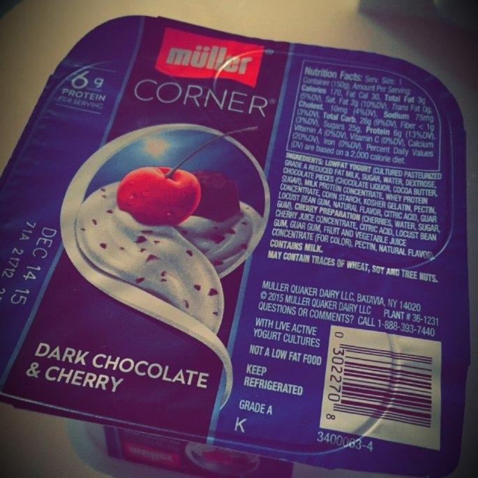 Muller® Corner Lowfat Dark Chocolate & Cherry Yogurt uploaded by Amina R.