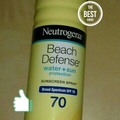 Photo of Neutrogena® Beach Defense® Water + Sun Protection Sunscreen Spray Broad Spectrum SPF 70 uploaded by Joe R.