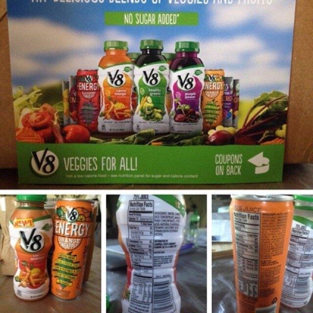 V8 V-Fusion® + Energy Orange Pineapple Vegetable & Fruit Juice 8 fl oz Can uploaded by Savannah R.