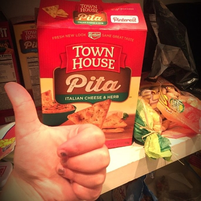Keebler Town House Oven Baked Crackers Pita Italian Cheese & Herb uploaded by Alyssa R.