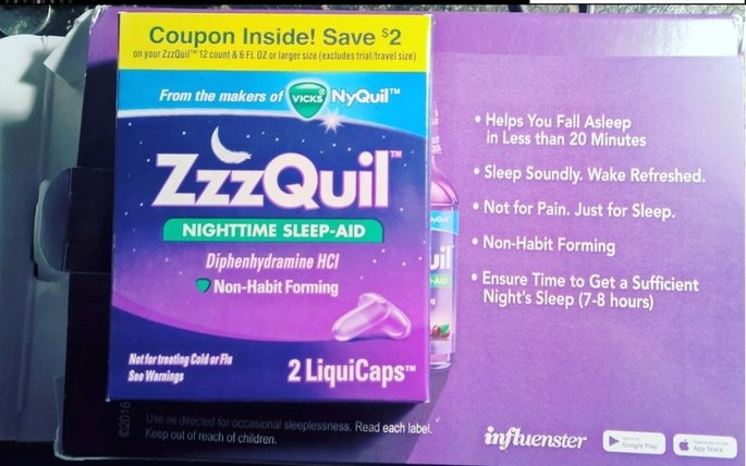 ZzzQuil Nighttime Sleep-Aid Liquid, Warming Berry uploaded by karen c.