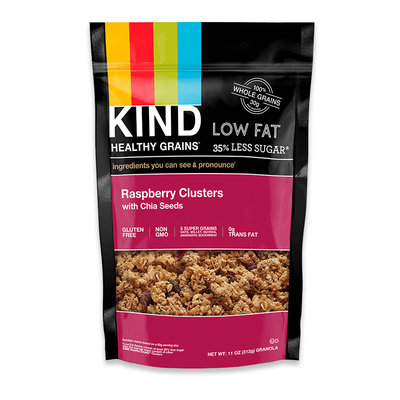KIND® Raspberry Clusters With Chia Seeds