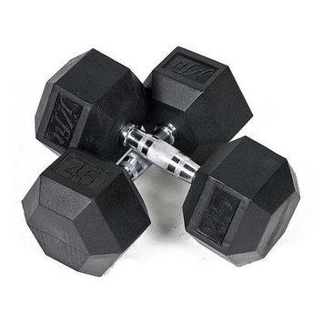 JFit Rubber Coated Hex Dumbbells - 25 lb. Pair