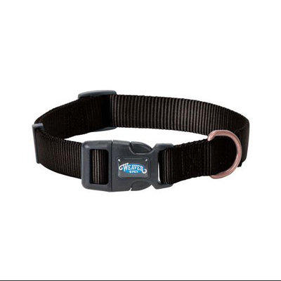 WEAVER LEATHER LLC Copper Creek Dog Collar, Snap-N-Go, Midnight Sky Nylon, 1 x 17-25-In.