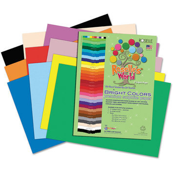Roselle Paper Co 75702 Premium Sulphite Construction Paper 76 Lbs. 12 X 18 Hot Pink 50/pack