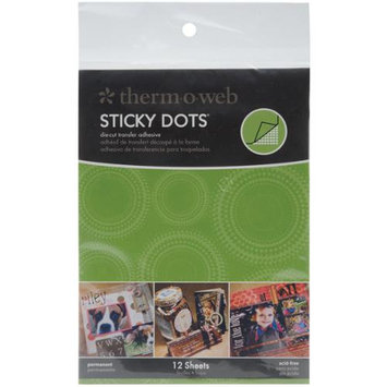 Therm O Web Thermoweb Sticky Dot Die-Cut Adhesive Sheets 12/Pk