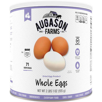 Augason Farms Emergency Food Whole Eggs Dried Egg Product, 33 oz