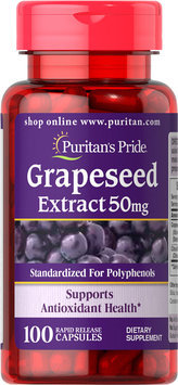 Puritan's Pride 2 Units of Grapeseed Extract 50 mg-100-Capsules