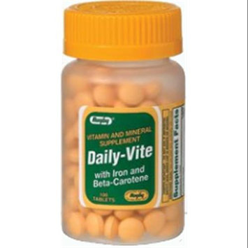 Watson Rugby Labs Daily-Vite w/ Iron and Beta Carotene, 100 Tablets, Watson Rugby