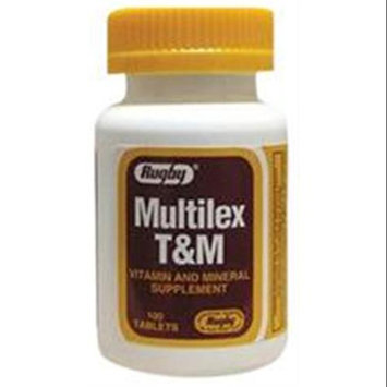 Watson Rugby Labs Multilex T & M, Vitamin & Mineral, 100 Film Coated Tablets, Watson Rugby