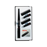 Mitac PARS0205870 - Sanford Rotring ArtPen Calligraphy Pen Set with Three Nibs; Black Cartridges
