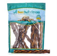 Best Bully Sticks 12 Inch Thick Braided Bully Sticks / 50 Pack