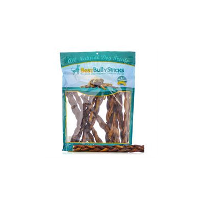 Best Bully Sticks 12 Inch Thick Braided Bully Sticks / 75 Pack