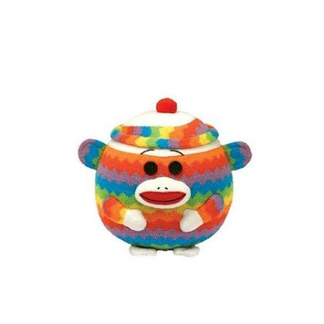 Ty, Inc. Ty Beanie Ballz - Sock Monkey - Rainbow