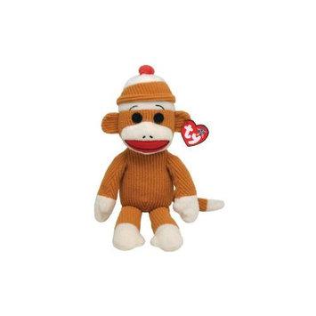 TY Beanie Buddy - SOCKS the Sock Monkey (Tan Corduroy - 16 inch)